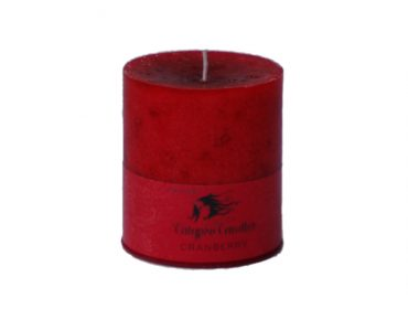 Cranberry 3x3.5 Pillar Candle